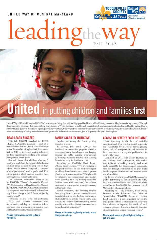 United Way Newsletter by Randall Kenneth Jones
